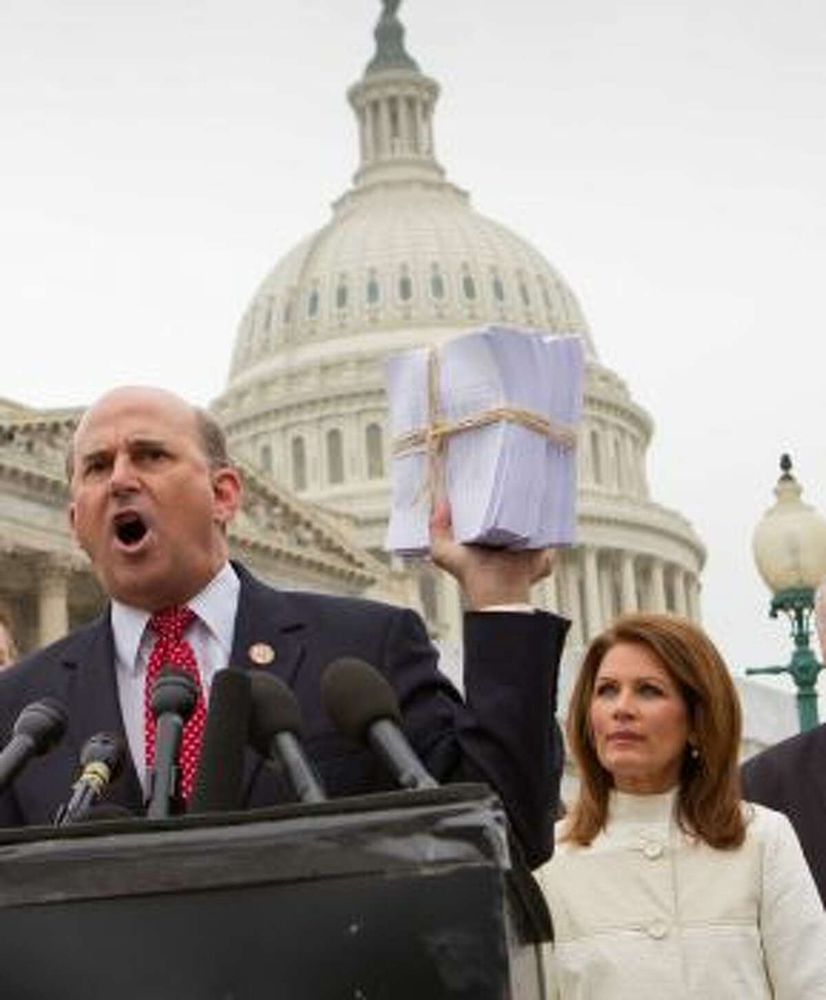 Where Cruz made health care his political trampoline, Rep. Louie Gohmert, R-Texas, has his social commentary to stand by. He and Tea Party darling Michele Bachmann were at the head of a sought-after investigation against a federal official's ties to the Muslim Brotherhood. The move was slammed by both parties.