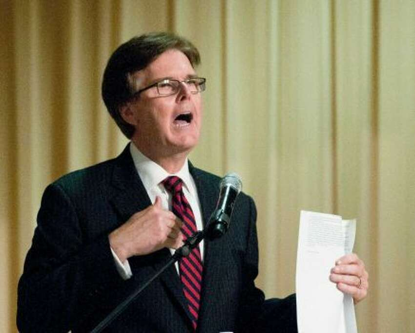 State Sen. Dan Patrick's trouncing of incumbent David Dewhurst in the 4-way Republican race for lieutenant governor was the story of the night, with Patrick pulling 41% of the statewide vote compared to Dewhurst's 28%, which sends the two into a May 27 runoff.