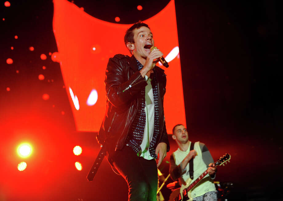 Fun performs at the Webster Bank Arena in Bridgeport, Conn. on Saturday September 28, 2013. Photo: Christian Abraham / Connecticut Post
