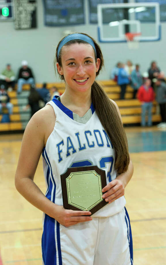 Todd Burger Holiday Girls Basketball Tournament MVP Fairfield Ludlowe high school's Caroline Pangallo at Fairfield Ludlowe high school, Fairfield, CT on Monday, December, 30th, 2013. Photo: Mark Conrad / Connecticut Post Freelance
