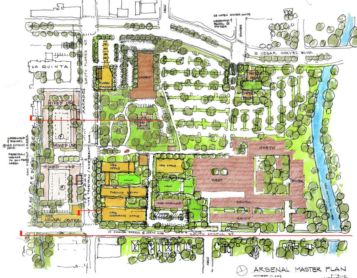 1. H-E-B's request to close a block of South Main Avenue.