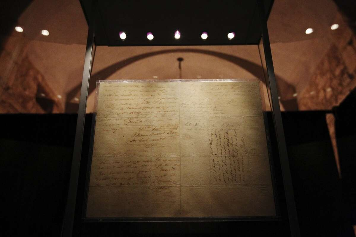 """3. Travis' """"Victory or Death"""" letter returns to the Alamo."""