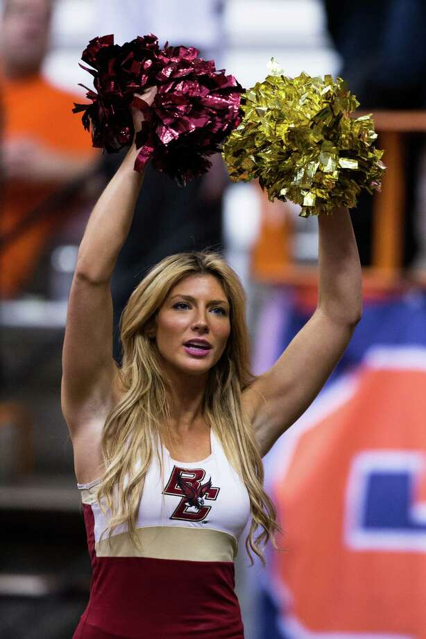 A Boston College Eagles cheerleader before a football game against Syracuse Orange on November 30, 2013 at the Carrier Dome. Photo: Brett Carlsen, Katie Dowd / 2013 Brett Carlsen