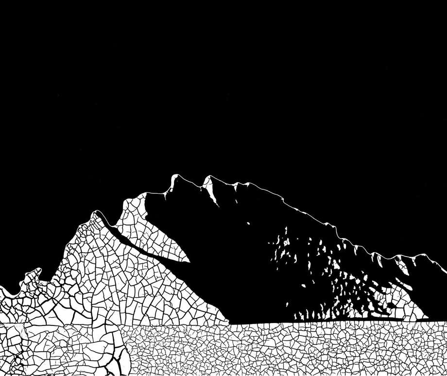 """This work by Dave Pressler, """"Mythic Mountain"""" will be on display in the exhibit """"mostly Black& White,"""" at Art/Place starting Jan.9. Photo: Contributed Photo / Fairfield Citizen"""