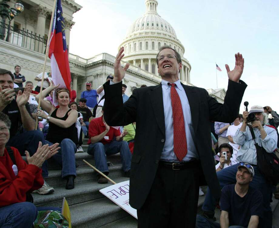 Rep. Jack Kingston, R-Ga.,  has been attacked by GOP foes for adopting a pragmatic approach to fixing the Affordable Care Act law. Photo: Associated Press File Photo / FR132934 AP