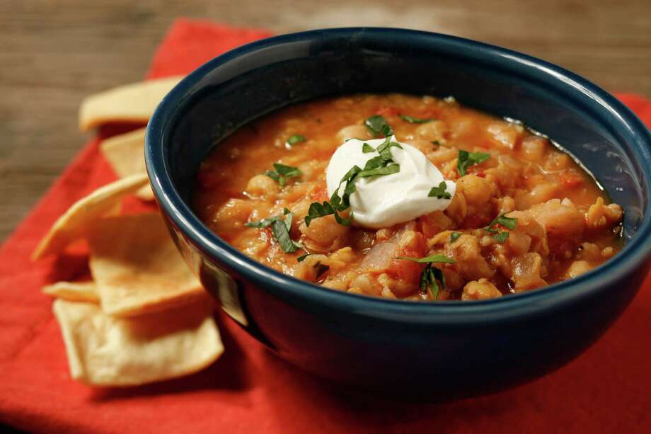 Crushed Chickpea Soup is robust and stewlike. Photo: Craig Lee, Special To The Chronicle / ONLINE_YES