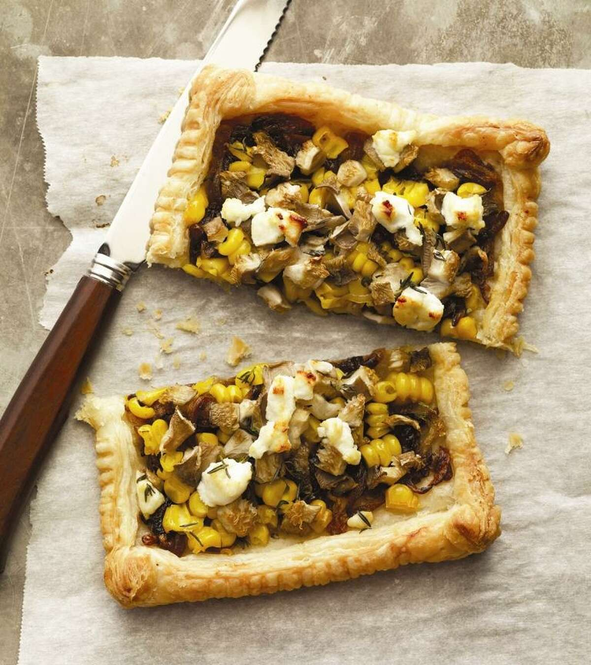 Oyster Mushroom and Corn Tart from Eat Your Vegetables: Bold Recipes for the Single Cook, by Joe Yonan