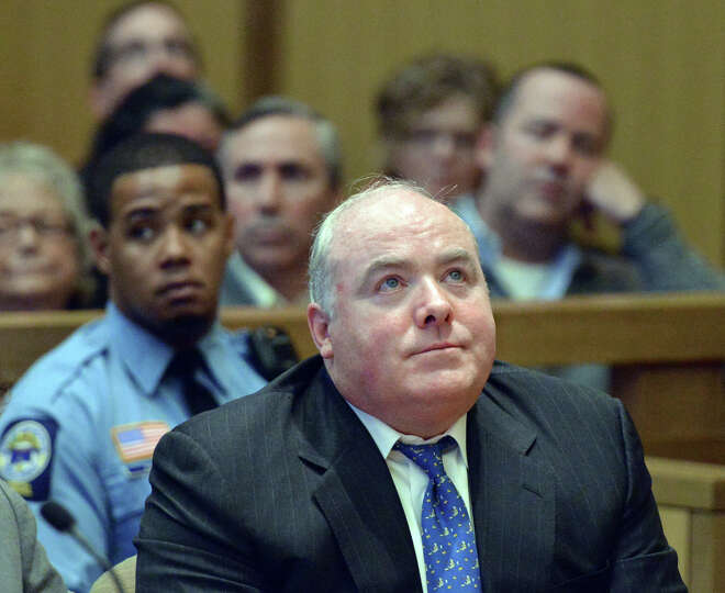 Michael Skakel reacts to being granted bail during his hearing at Stamford Superior Court, in Stamfo