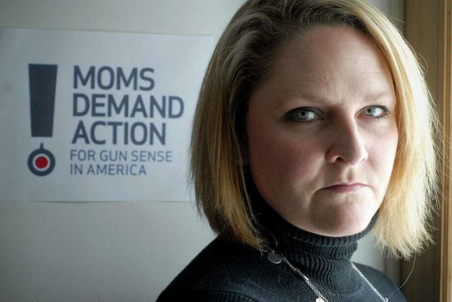 Kara Nelson Baekey who works with Moms Demand Action for Gun Sense in American at home in Norwalk, Conn. on Friday March 8, 2013. Photo: Dru Nadler / Stamford Advocate Freelance