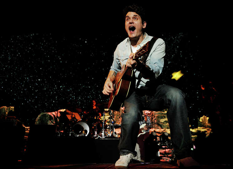 Bridgeport native John Mayer performs on his Born and Raised tour at the Webster Bank Arena in Bridg
