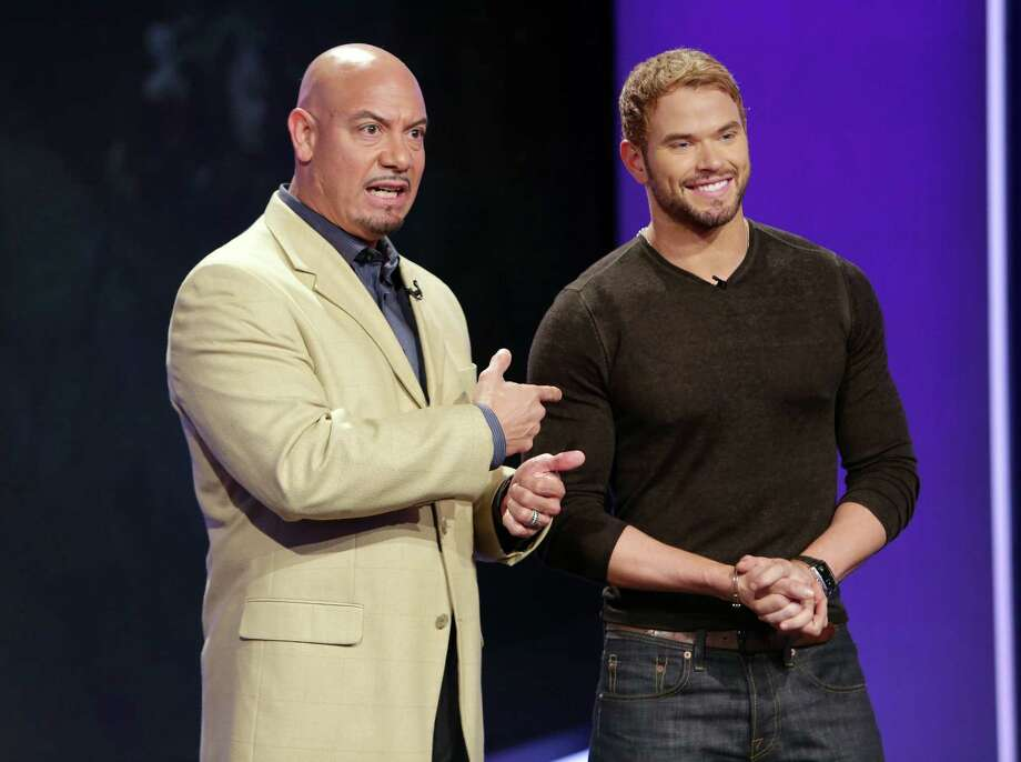 """The Legend Of Hercules"" The look on this Telemundo host's face clearly says, ""You seriously cast this guy as Hercules? You know he played Emmett in the 'Twilight' movies, right?"" Photo: Alexander Tamargo, Getty Images / 2013 Alexander Tamargo"