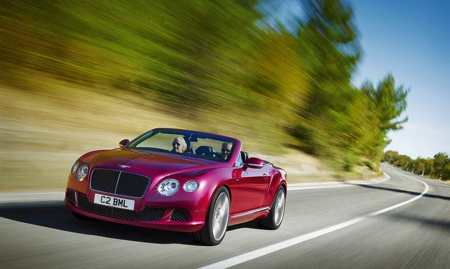 Bentley Continental GT Speed convertible. Shouldn't everyone have one of these svelte grocery-getters? This car is a real speeder and it's compact and lithe enough to belie Bentley's image as a big, big car. Tune in a new one for $270,215.