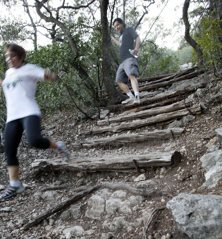 Friedrich Wilderness Park, known for its steep trails, is among the area public parks ringing in the new year with a nature walk. Photo: Express-News File Photo / SAN ANTONIO EXPRESS-NEWS