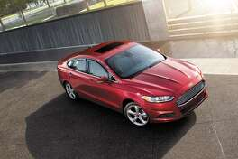 """Ford Fusion Energi.The plug-in hybrid end of the Fusion line, this four-door sedan ring in at $44,925, fairly pricey for a car whose mundane starter version can be had for about half that. Nonetheless, the Energi gets what the Environmental Protection Agency says is the """"equivalent"""" of 100 mpg on electric power and 43 mpg when its gasoline-goosed engine kicks in."""
