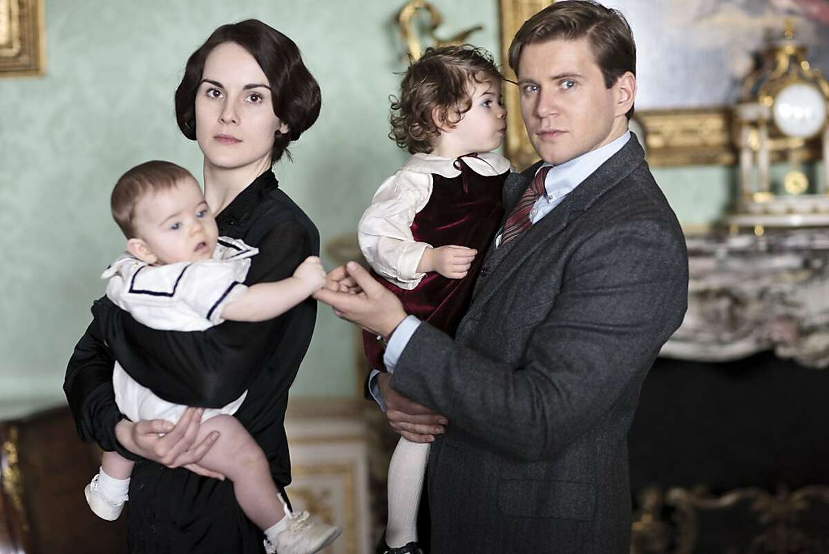 Michelle Dockery as Lady Mary and Allen Leech as Branson from