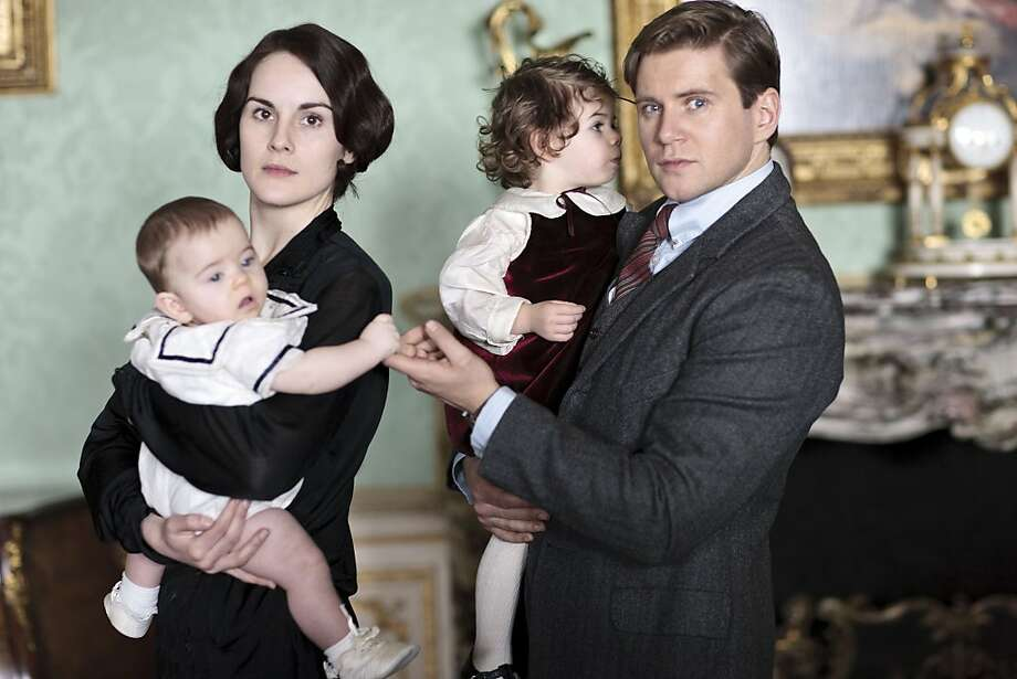 "Michelle Dockery as Lady Mary and Allen Leech as her late sister's husband, Tom Branson, in ""Downton Abbey."" Photo: Handout, McClatchy-Tribune News Service"