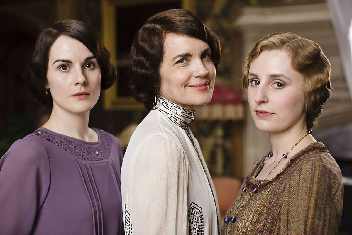 Mary Crowley (Michelle Dockery), Elizabeth McGovern as Lady Cora, Laura Carmichael as Lady Edith from