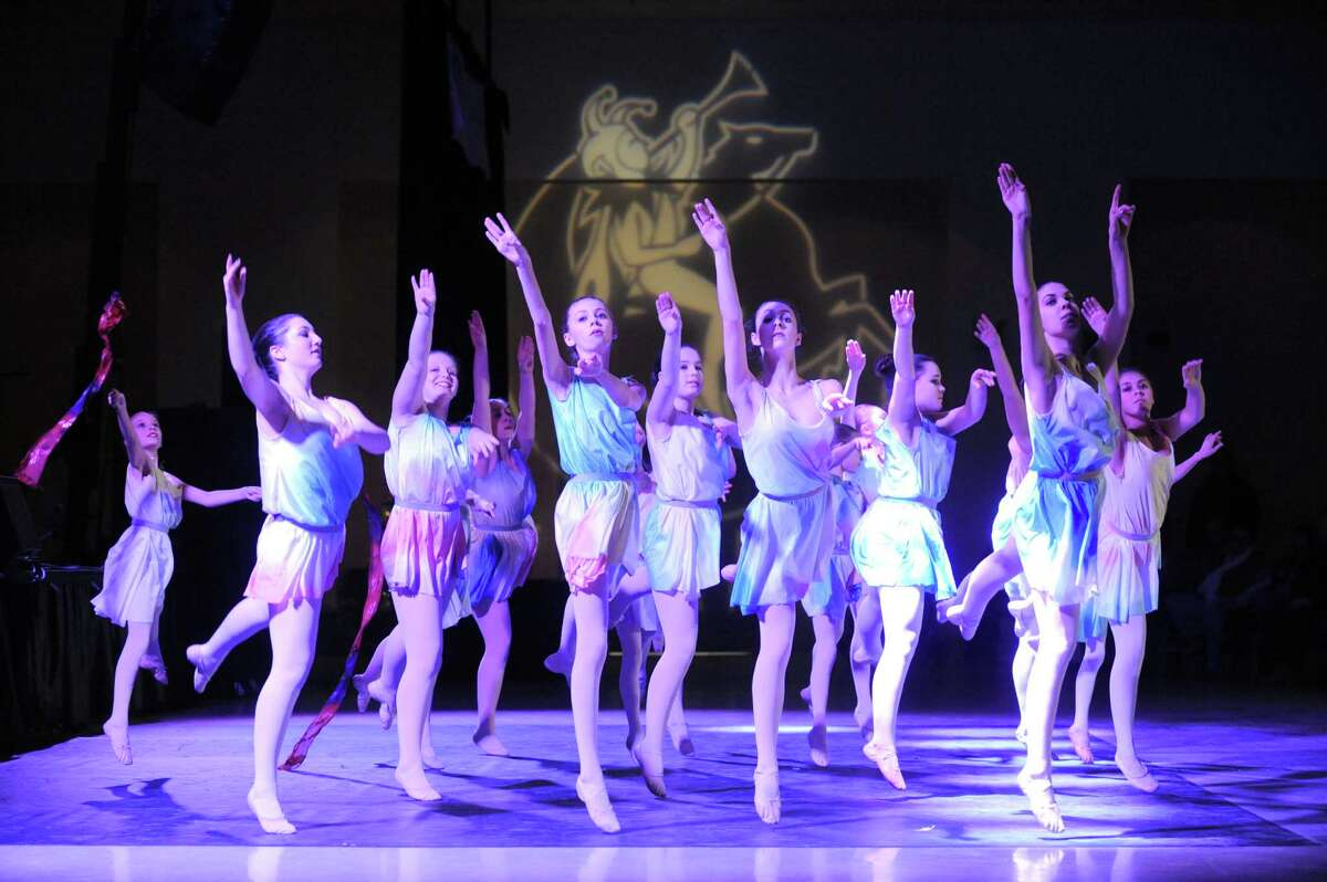 Members of the Glens Falls Ballet and Dance Center perform at the Saratoga Civic Center during the Saratoga First Night celebration on Tuesday Dec. 31, 2013 in Saratoga Springs, N.Y. (Michael P. Farrell/Times Union)