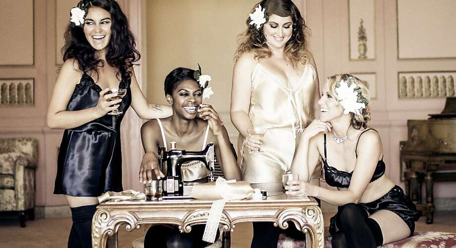 Models wear pieces from Oakland-based Blackbird Underpinning's Maven lingerie line, which was launched on Kickstarter in November 2013. Photo: Kelly Puleio, Courtesy Blackbird Underpinnings