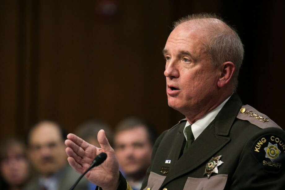 King County Sheriff John Urquhart now faces claims from his office's internal investigations division that he made disparaging comments about women during two meetings and inserted himself unduly in internal investigations. Photo: Drew Angerer, Getty Images / 2013  Getty Images