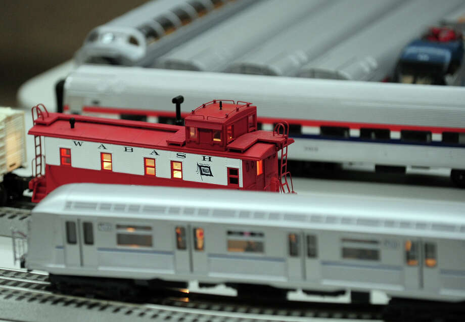 """Dennis the Conductor's,""  model train set up at the Westport Library, during First Night celebration on New Year's Eve in downtown Westport, Conn. on Tuesday December 31, 2013. Photo: Christian Abraham / Connecticut Post"