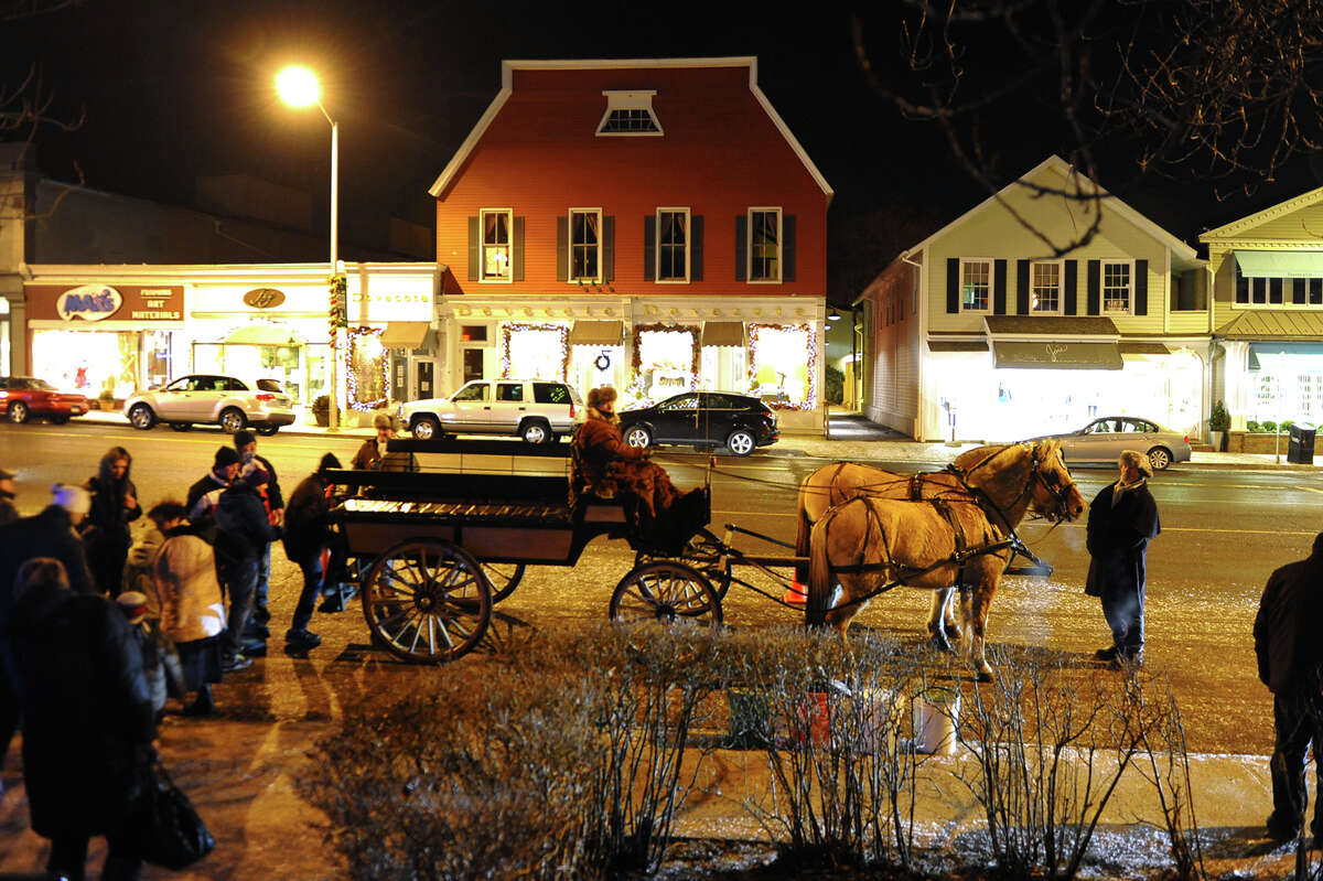 First Night celebration on New Year's Eve in downtown Westport, Conn. on Tuesday December 31, 2013.