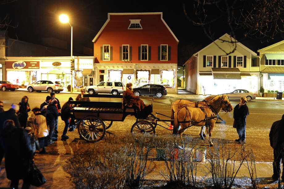 First Night celebration on New Year's Eve in downtown Westport, Conn. on Tuesday December 31, 2013. Photo: Christian Abraham / Connecticut Post