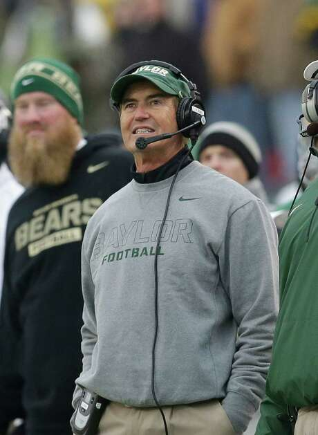 Baylor coach Art Briles has joked about his NFL prospects but has his mind set on today's game. Photo: LM Otero, STF / AP