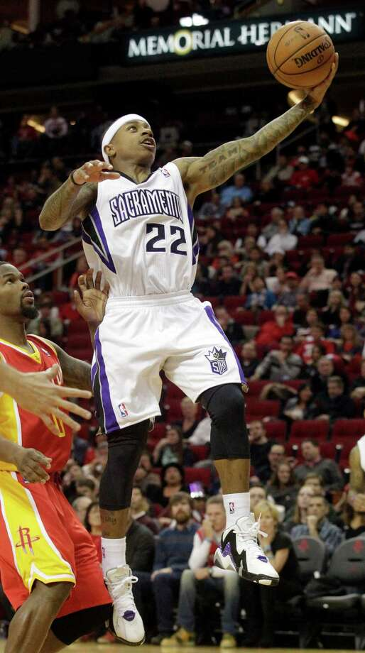 Kings guard Isaiah Thomas made a double-double look easy Tuesday. Photo: Patric Schneider, FRE / FR170473 AP