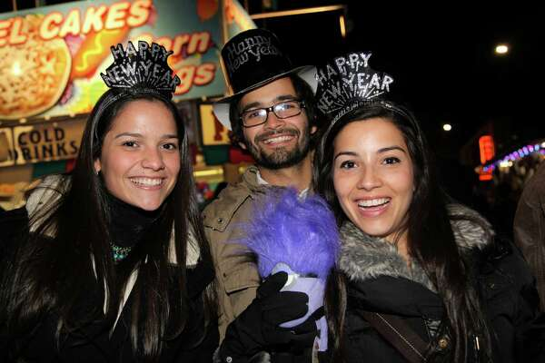 See who ushered in 2014 during San Antonio's New Year's Eve celebration.