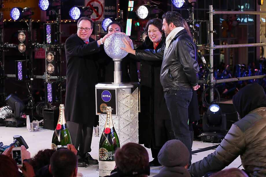 Supreme Court Justice Sonia Sotomayor rings in the year year during The New Year's Eve 2014 Celebration in Times Square on December 31, 2013 in New York City.  Photo: Neilson Barnard, Getty Images