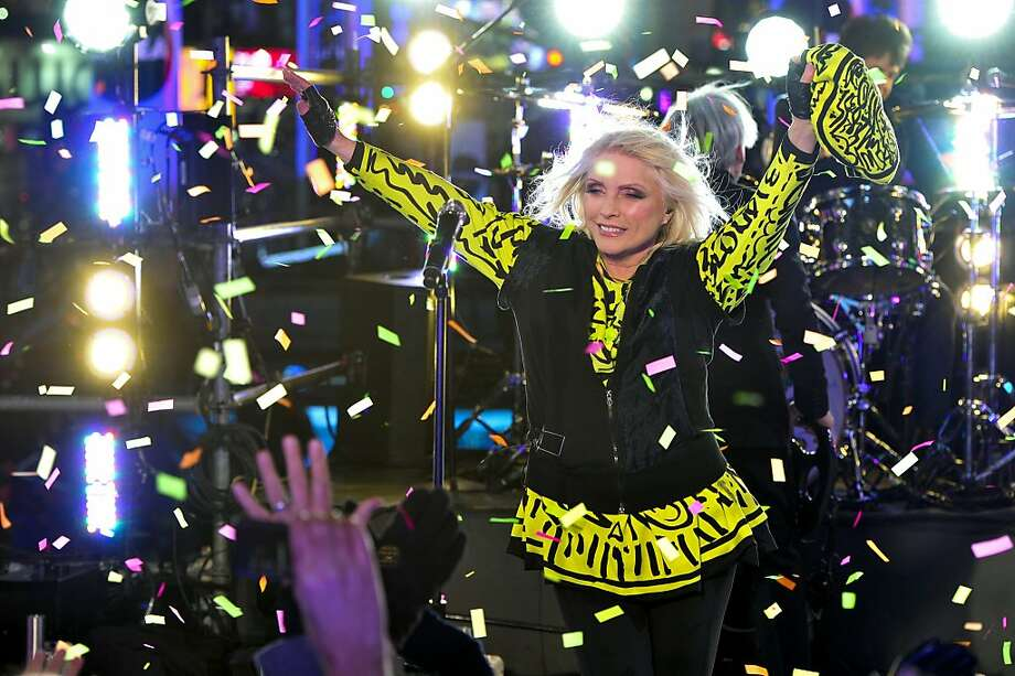Deborah Harry from the band Blondie performs in Times Square during New Year's Eve celebrations on Tuesday, Dec. 31, 2013 in New York.  Photo: Charles Sykes, Associated Press