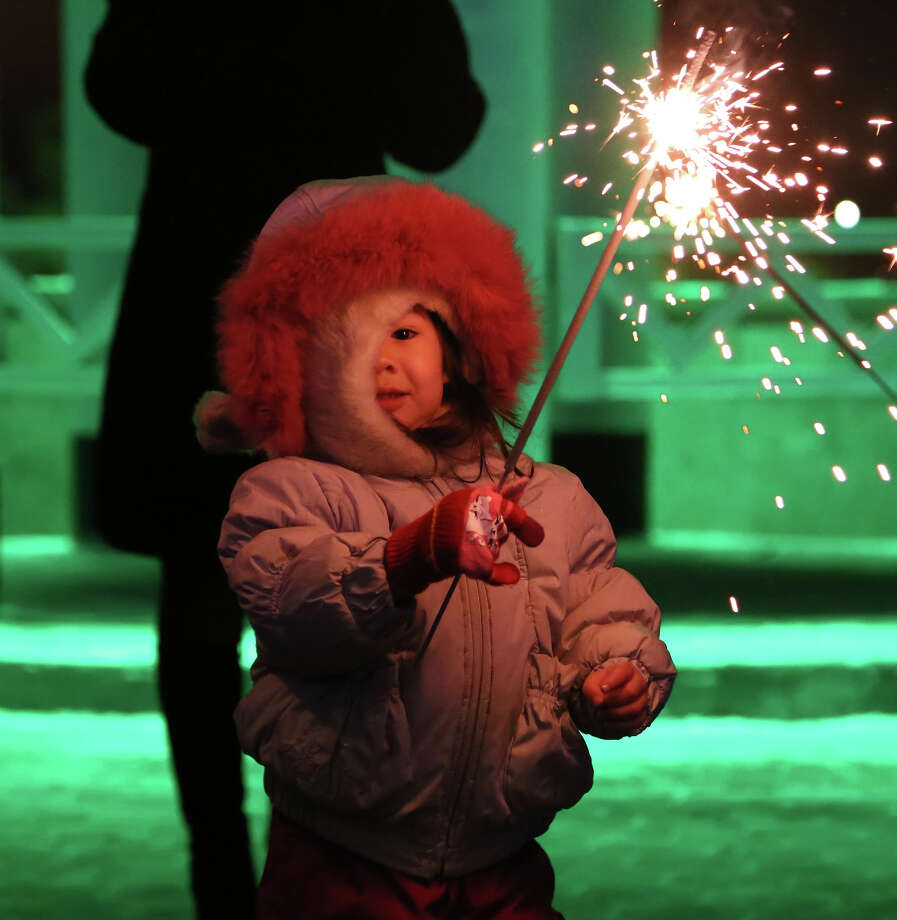 Astana the Capital of Kazakhstan welcomes the new year with fire works around Ishim River, December 31, 2013. Photo: Anadolu Agency, Getty Images / 2013 Anadolu Agency