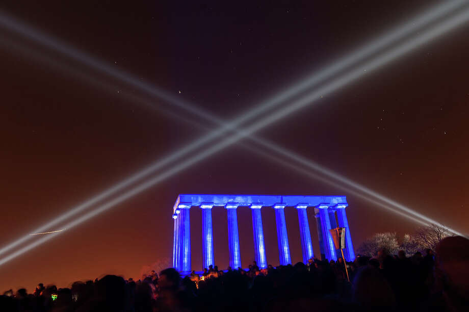 General view of Calton Hill during Edinburgh's Hogmanay on December 30, 2013 in Edinburgh, Scotland. Photo: Roberto Ricciuti, Redferns Via Getty Images / 2013 Roberto Ricciuti