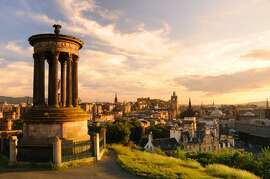 6. Edinburgh, Scotland.  Many attractions in this political and cultural capital (seen from Calton Hill) are free, from the Scottish National Gallery of Modern Art to tours of the Scottish Parliament.