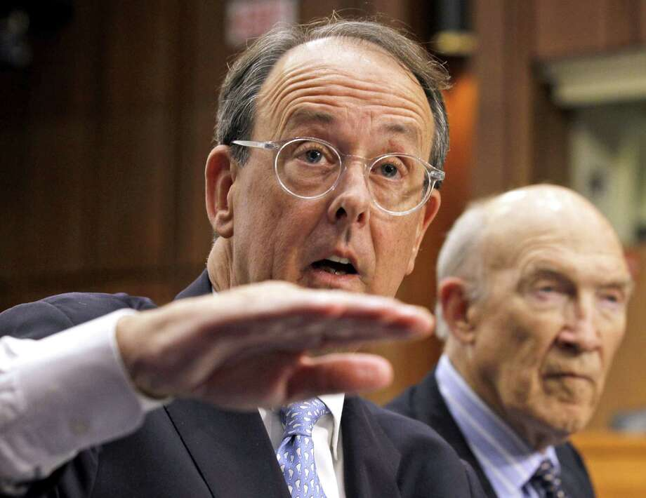 Debt Commission co-chairmen Erskine Bowles (left) and former Sen. Alan Simpson warned of a fiscal calamity within two years — but that was three years ago. Photo: Associated Press File Photo / AP2010