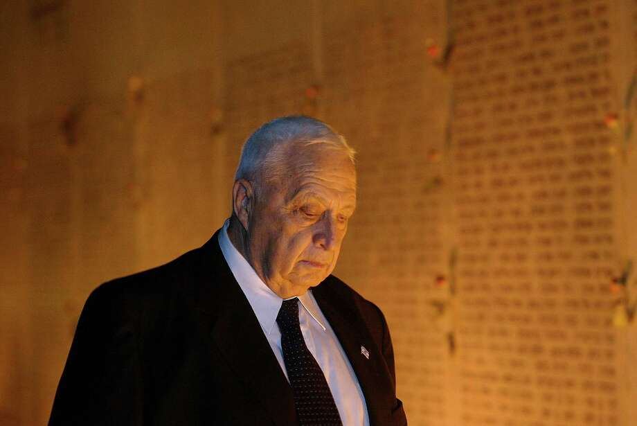Former Israeli Prime Minister Ariel Sharon died Saturday at 85. Photo: David Silverman, Getty Images / 2002 Getty Images