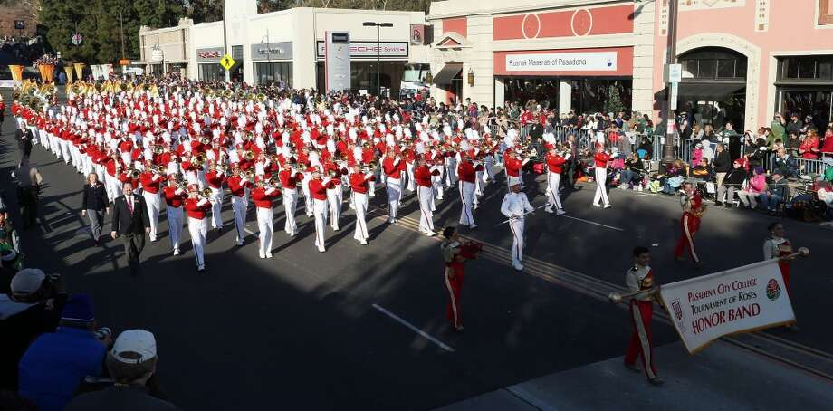 PASADENA, CA - JANUARY 01: The Pasadena City College Tournament of Roses Honor Band, on the parade route during the 125th Rose Parade on January 1, 2014 in Pasadena, California.  (Photo by Frederick M. Brown/Getty Images) Photo: Getty Images