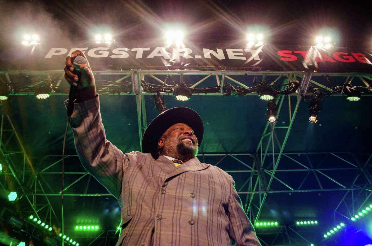 George Clinton and Parliament-Funkadelic was one highlight of Free Press Houston's inaugural New Year's Eve celebration Tuesday night at Sam Houston Park downtown, which drew an estimated 7,000 partygoers.