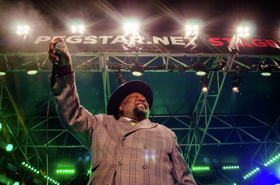 George Clinton and Parliament-Funkadelic was one highlight of Free Press Houston's inaugural New Year's Eve celebration Tuesday night at Sam Houston Park downtown, which drew an estimated 7,000 partygoers. Photo: Jamaal Ellis / ©2013 Houston Chronicle