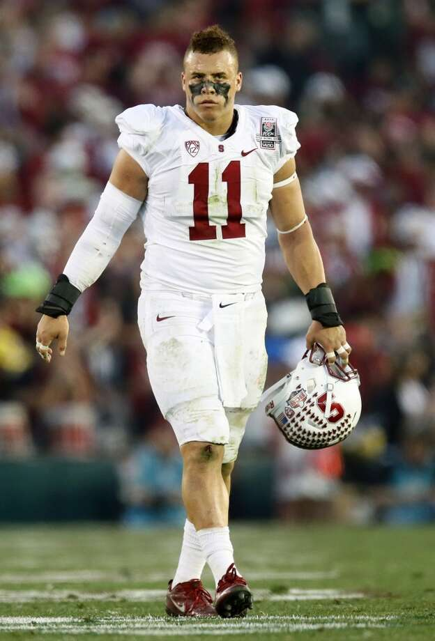 Stanford linebacker Shayne Skov during the second half of the Rose Bowl NCAA college football game on Wednesday, Jan. 1, 2014, in Pasadena, Calif. Photo: Danny Moloshok, Associated Press