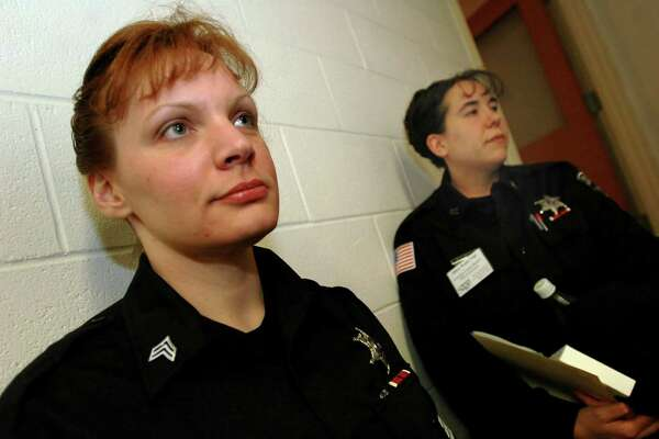 Former Rensselaer County jail sergeant Lora Abbott Seabury, left, won a case before the state Division of Human Rights in which she alleged severe harassment by fellow guards. (Times Union file photo)