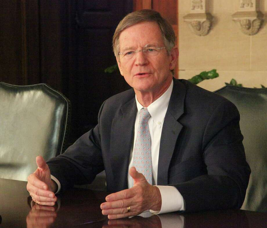 U.S. Rep. Lamar Smith meeting with SAEN Editorial Board for a wide ranging discussion of the government shutdown, Obamacare, immigration reform and other topics November 6, 2013. Photo: Juanito M Garza, Staff / San Antonio Express-News