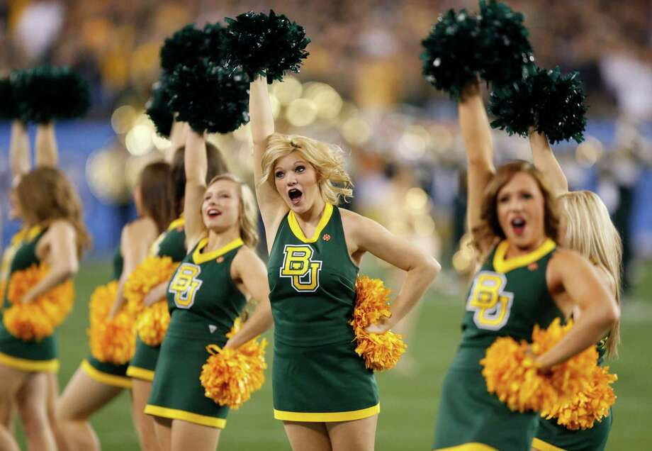Baylor cheerleader perform during the first half of the Fiesta Bowl NCAA college football game against Central Florida, Wednesday, Jan. 1, 2014, in Glendale, Ariz.  (AP Photo/Ross D. Franklin) Photo: Ross D. Franklin, Associated Press / AP