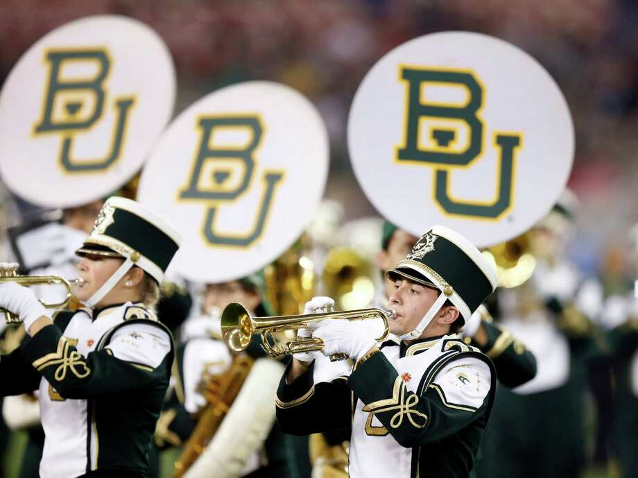 The Baylor band performs during the first half of the Fiesta Bowl NCAA college football game against Central Florida, Wednesday, Jan. 1, 2014, in Glendale, Ariz.  (AP Photo/Ross D. Franklin) Photo: Ross D. Franklin, Associated Press / AP