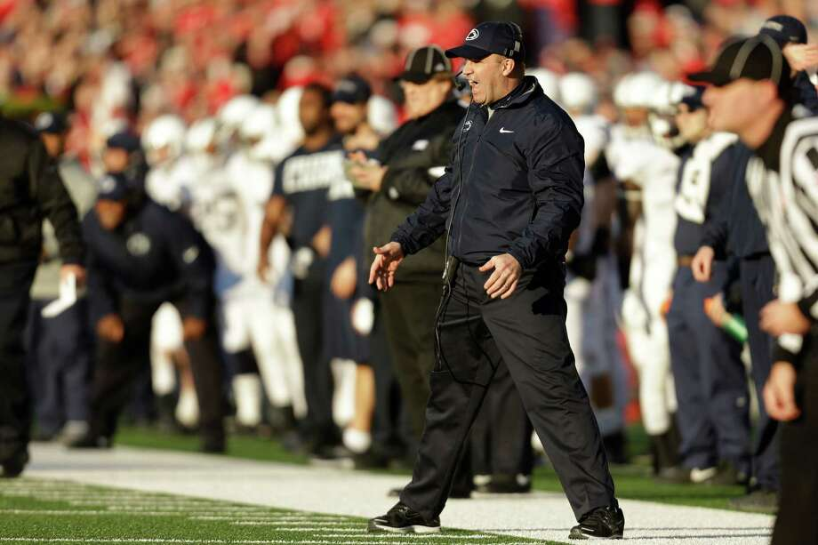 MADISON, WI - NOVEMBER 30: Head Coach Bill O'Brien of the Penn State Nittany Lions reacts after getting a field goal blocked by the Wisconsin Badgers during the game at Camp Randall Stadium on November 30, 2013 in Madison, Wisconsin. (Photo by Mike McGinnis/Getty Images) Photo: Mike McGinnis / 2013 Getty Images