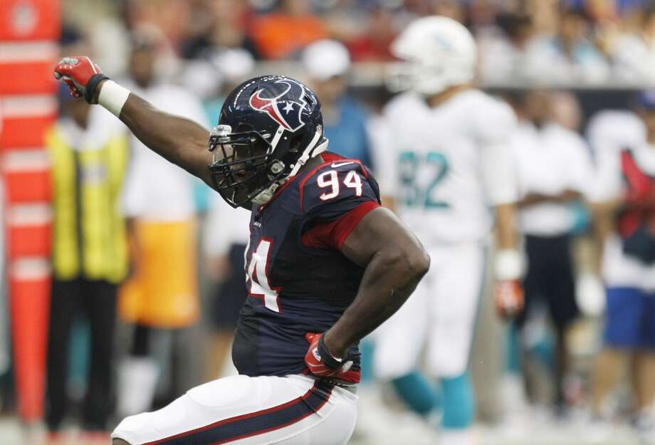 Antonio Smith  Age: 32  Experience: 9 years  Position: Defensive end Status: Signed with Oakland Raiders Photo: Brett Coomer, Houston Chronicle