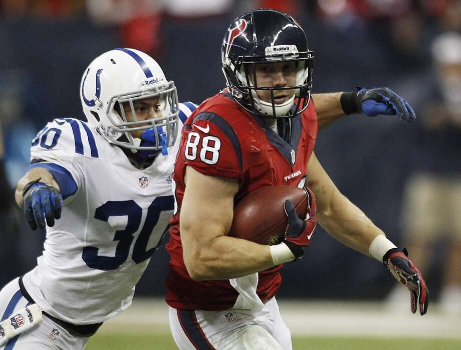 Garrett Graham  Age: 27 Experience: 4 years  Position: Tight end Status: Re-signed with Texans Photo: Brett Coomer, Houston Chronicle