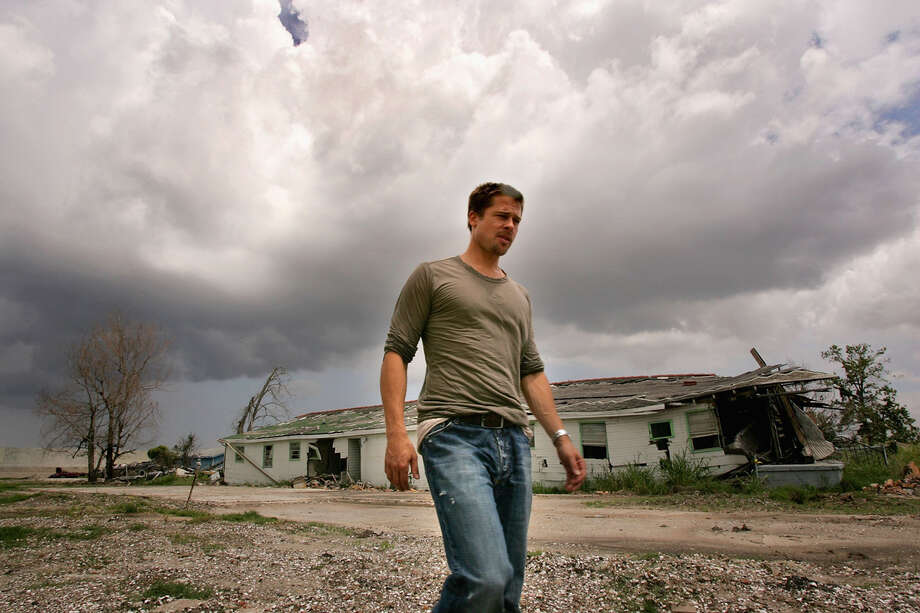 Actor Brad Pitt visits the Lower Ninth Ward of New Orleans during a trip to lobby government officials to increase the speed of re-construction on July 13, 2006 in New Orleans, Louisiana. Pitt and Global Green USA created a sustainable design architecture competition to showcase affordable, energy-efficient construction.  The competition drew entries from around the world. Photo: M Mainz, Getty Images / 2006 Getty Images