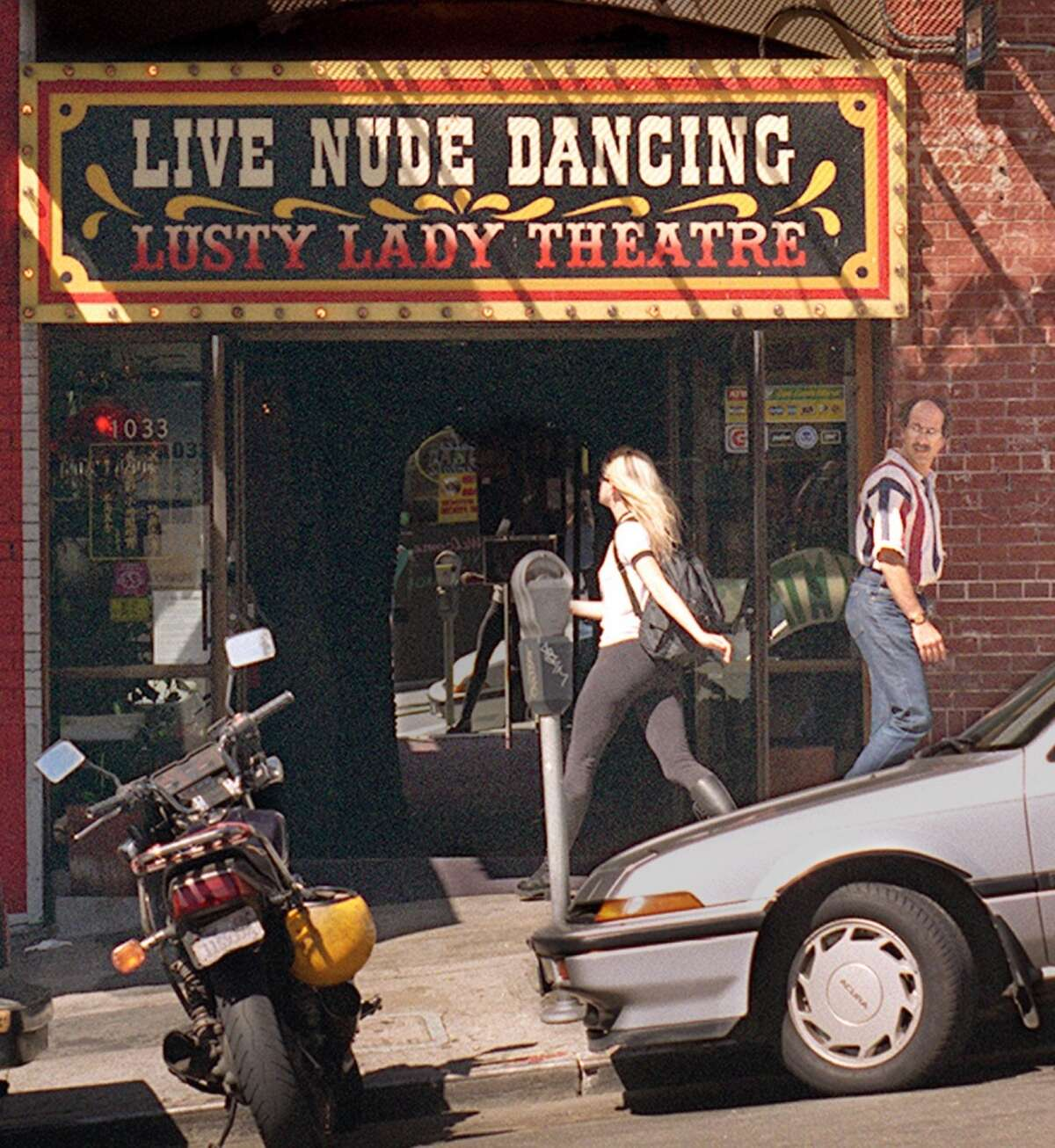 Why is the Lusty Lady so notable in the history of porn in San Francisco?